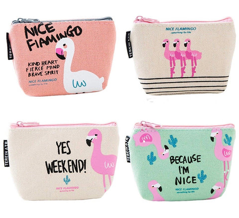 Cute Flamingo Coin Purses(set of 4 purses)