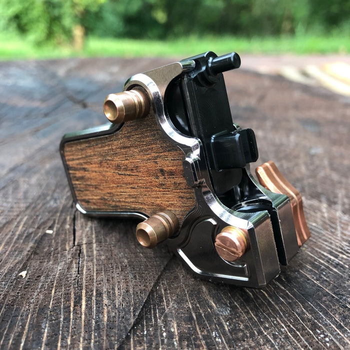 Mojoslider -Black Nickel & Copper w/Wood side plates