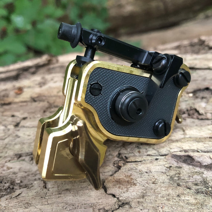 Sidewinder 7b- Polished Brass & Charcoal