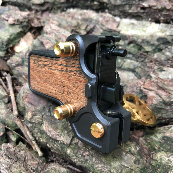 Mojoslider - Black Oxide w/Gold and wood