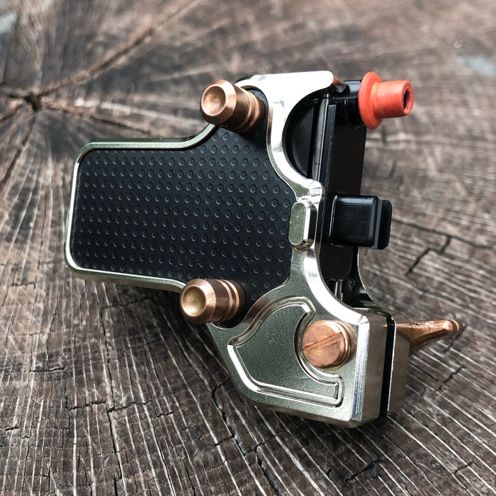 Mojoslider -  Polished Nickel w/Black Sideplates