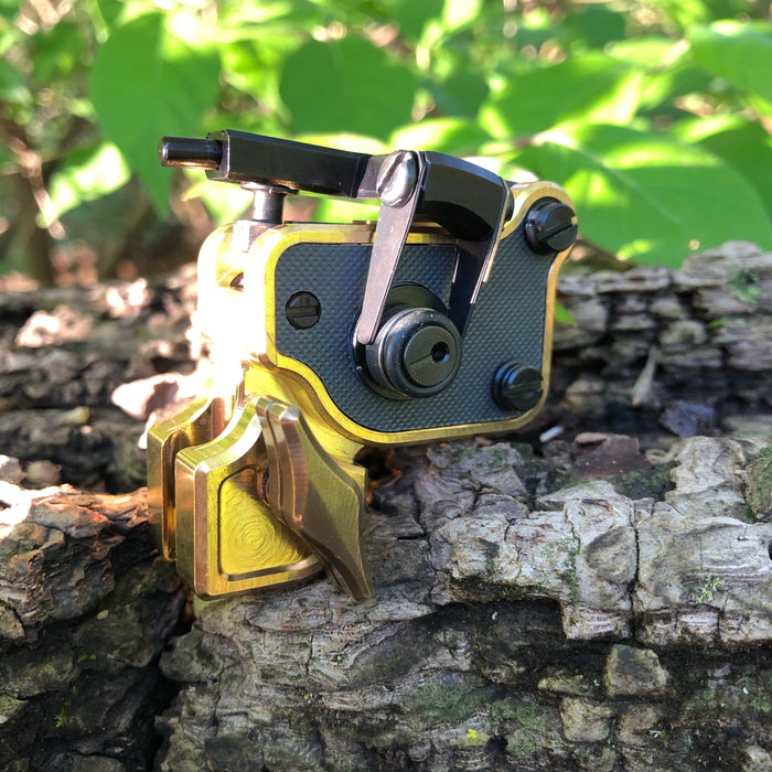 Sidewinder 7 - Polished Brass w/ Charcoal