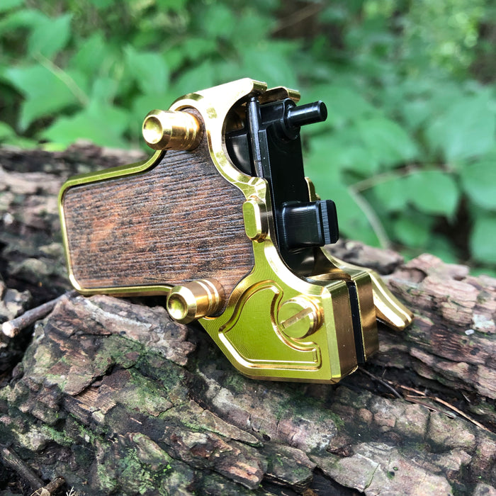 Mojoslider - 24k Gold w/Wood side plates