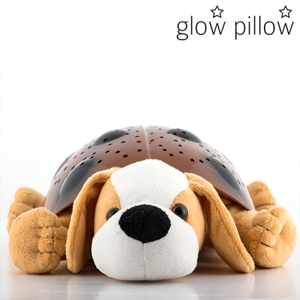 Puppy Glow Pillow LED Projector with Sound