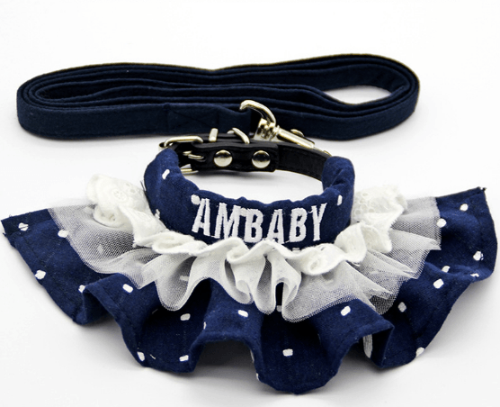 Yorky's Girly Collar w/ Leash