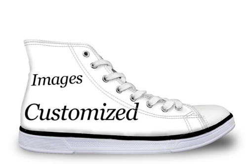 Fully Customizable (Own Picture) High Top Shoes for Men & Women