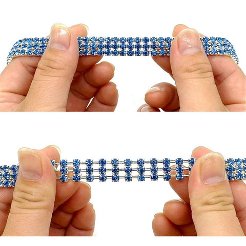 Bling Rhinestone Collar for Medium and Small Breed Dog/Puppy Accessories