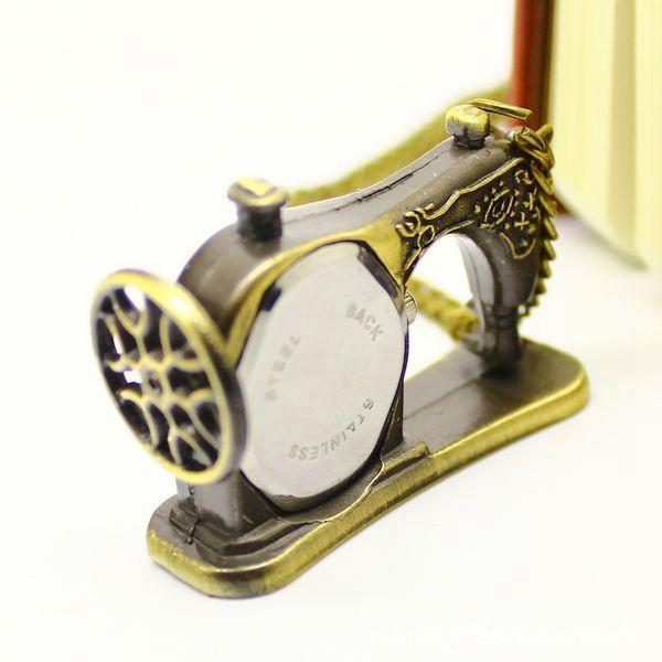 Vintage Sewing Machine Pocket Watch