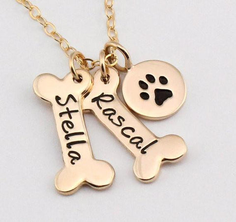 Yorky's Personalized Necklace w/ Cute Paw Print