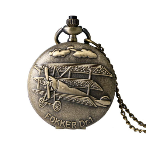 Fokker Dr. 1 Plane Pocket Watch