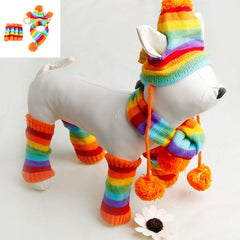 Colorful Yorky Knitted Hat/Scarf/Socks