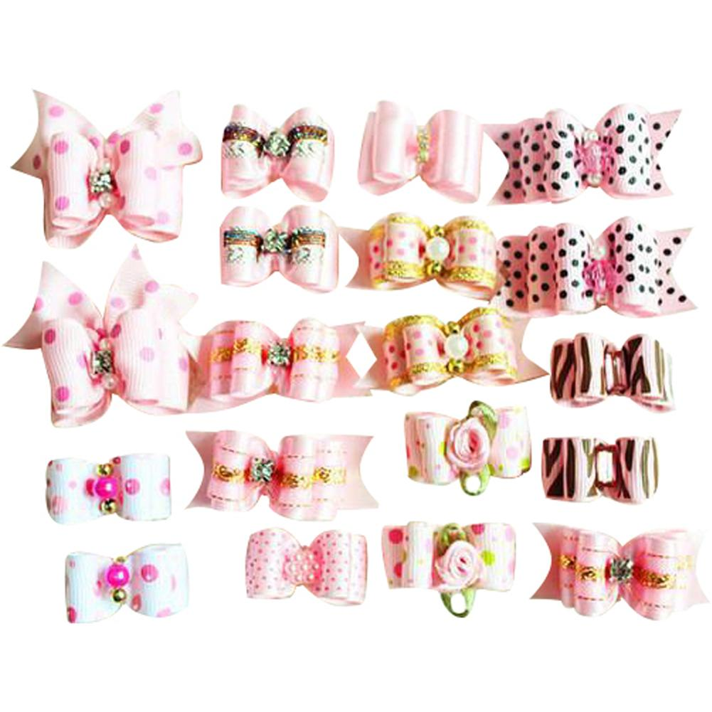 Cute Yorky Yorkie Hair Bows 10pcs/package