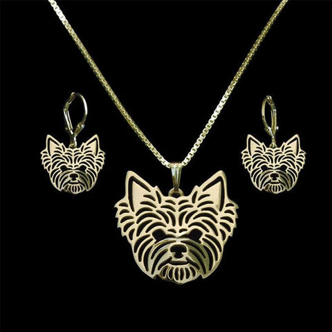 Yorky Jewelry Set - Earrings & Necklace