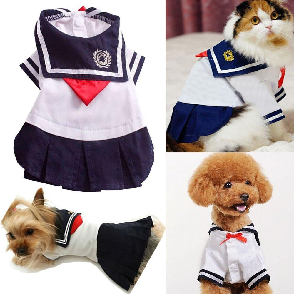 Cute Dog Sailor Costume for Small Dogs/Puppy