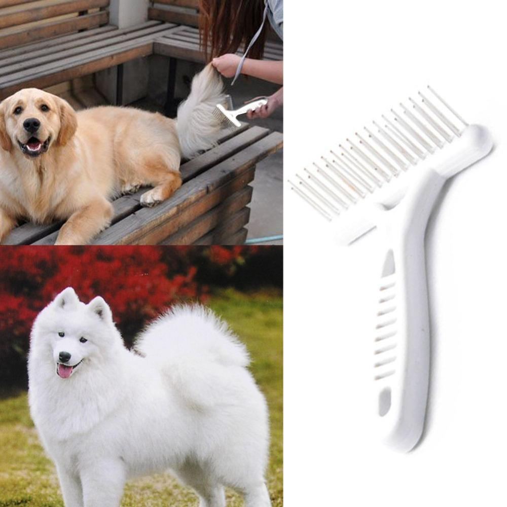 Long Yorkie Hair/Fur Grooming Comb - White