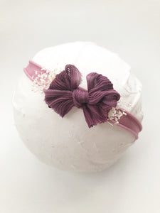 Berry Silk Chic Bow