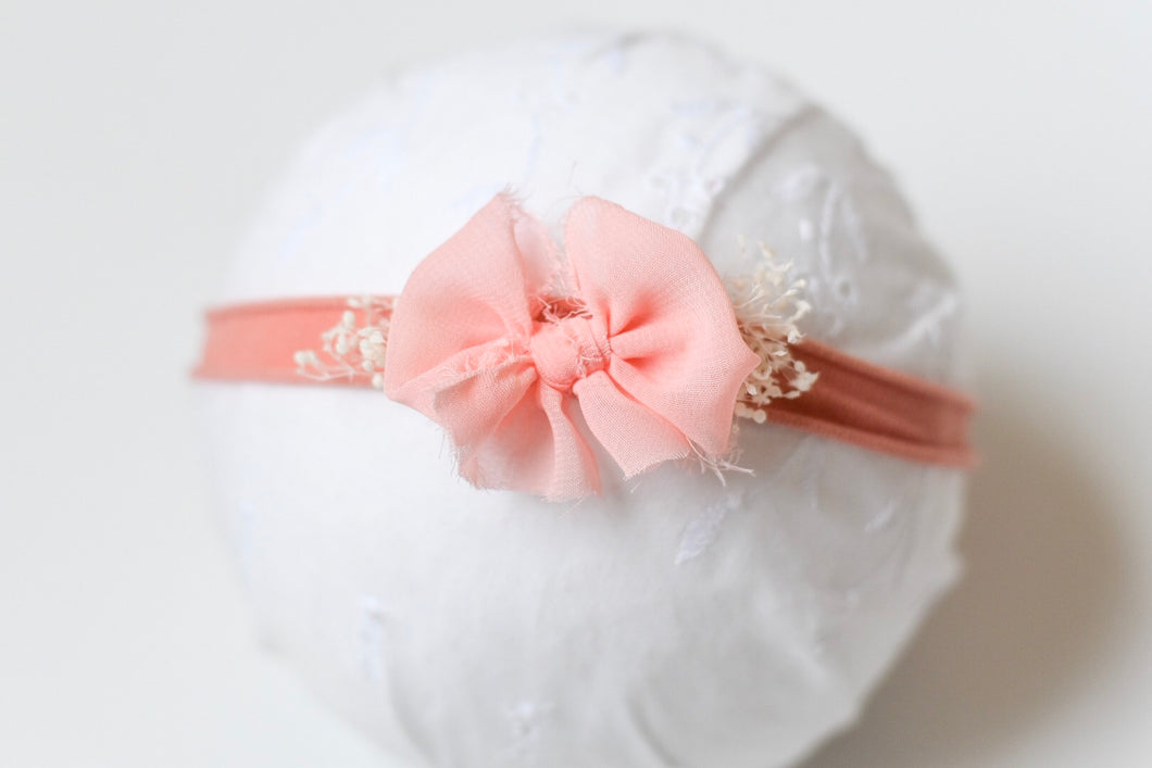Southern Peach Chic Bow