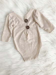 Cream Baby Boy Romper