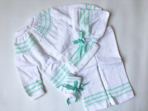 Mint Stripe Sitter set