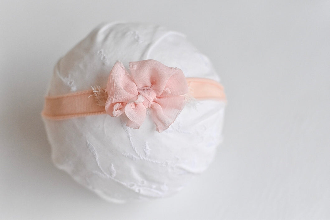 Shabby Chic Swiss Dot Peach
