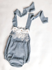 Blue Grey Sitter romper