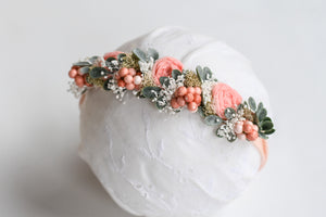 Peach Flower Crown