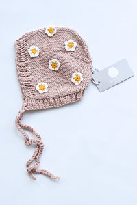 April Hand-Knit cotton Bonnet