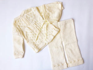 Yellow pant Sitter set