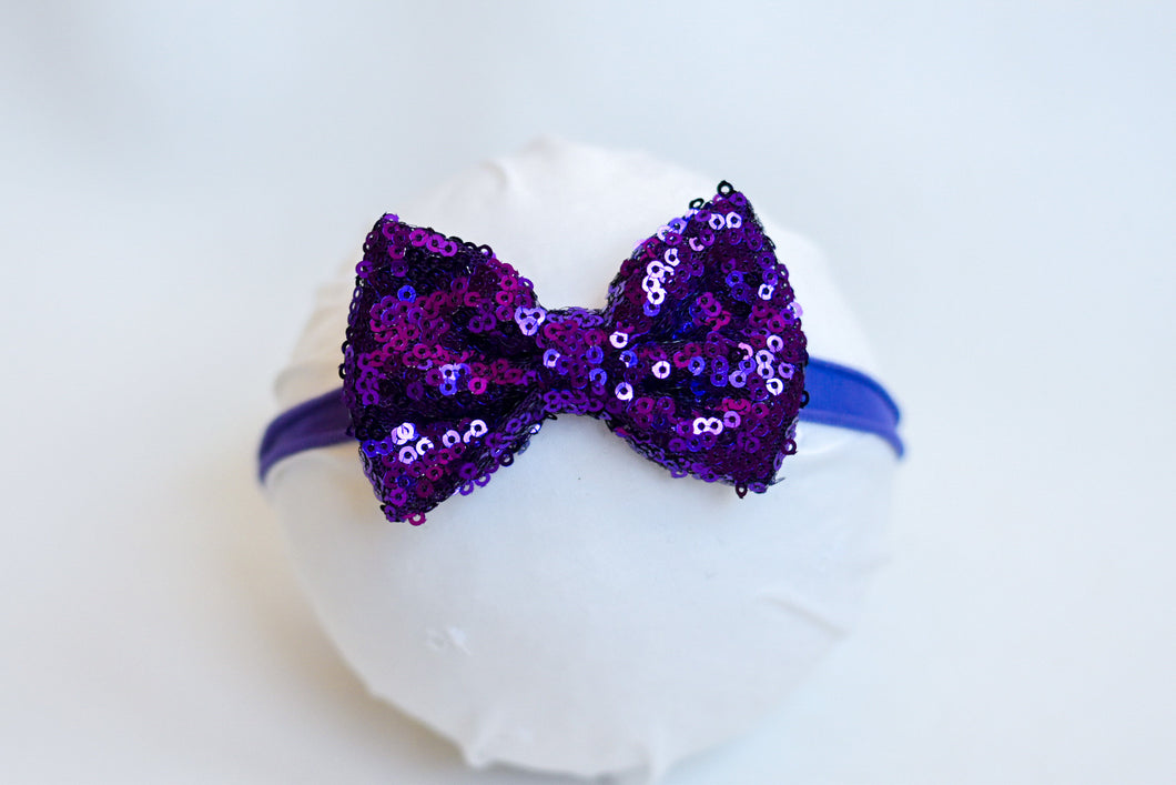 Purple Holiday Bow