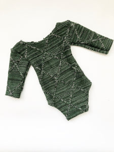 Green Diamond Knit