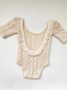 Ruffle Cream Cable Knit