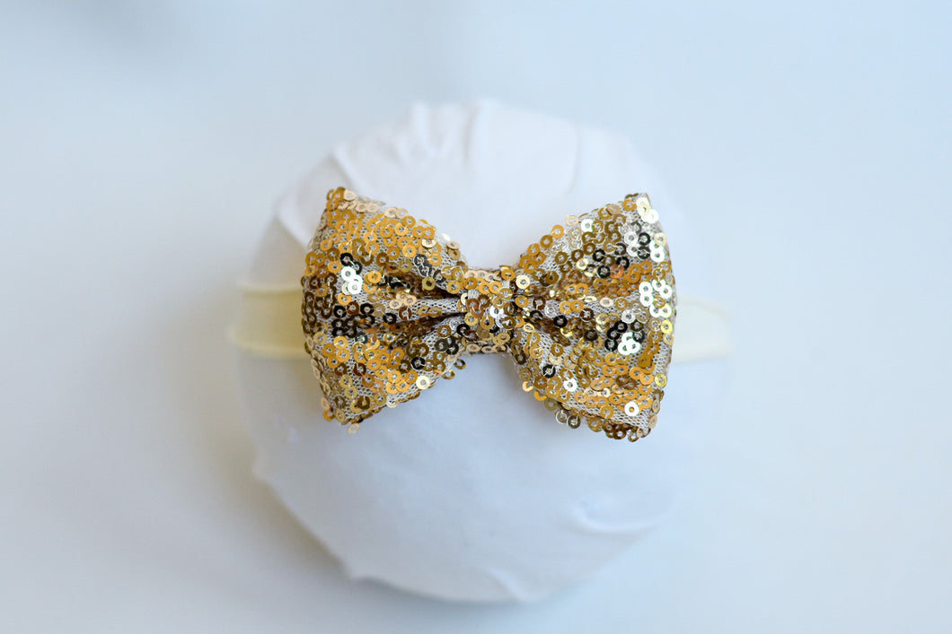 Gold Holiday Bow