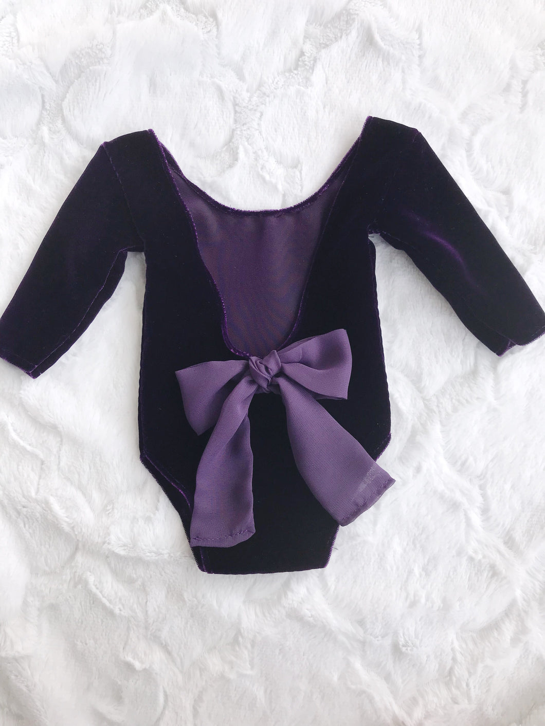 Purple velvet Romper