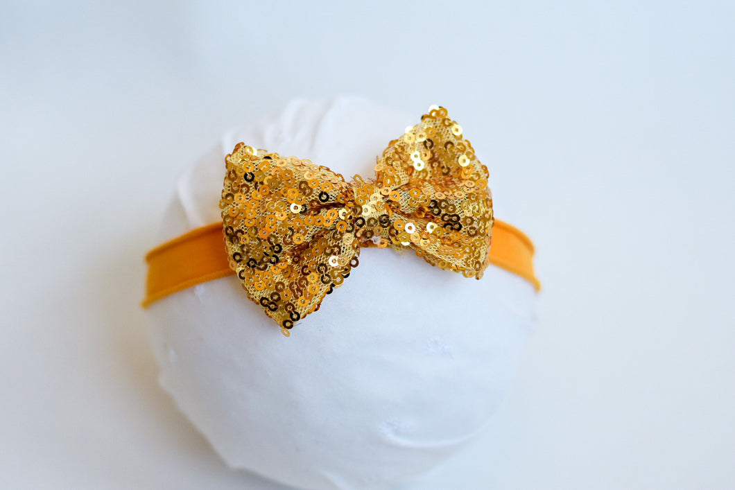 Mustard Holiday Bow