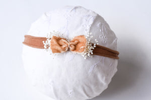Gold Velvet Chic Bow