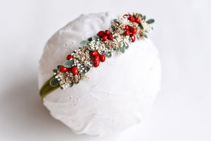 Christmas Flower Crown