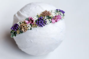 Purple Mini Flower Crown