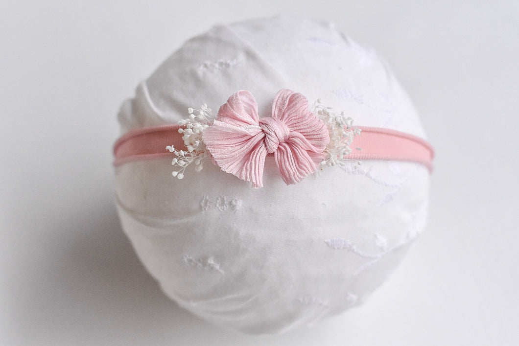 Chic Bow Blush Silk