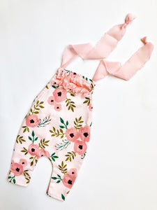 Peachy Poppies Newborn Overall