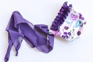 Purple floral Bonnet