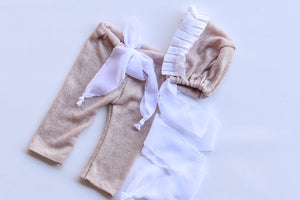Light pink Bonnet set