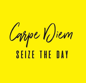 Inspirational Cards Saying Carpe Diem Seize The Day
