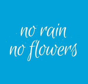 Inspirational Cards Saying No Rain No Flowers