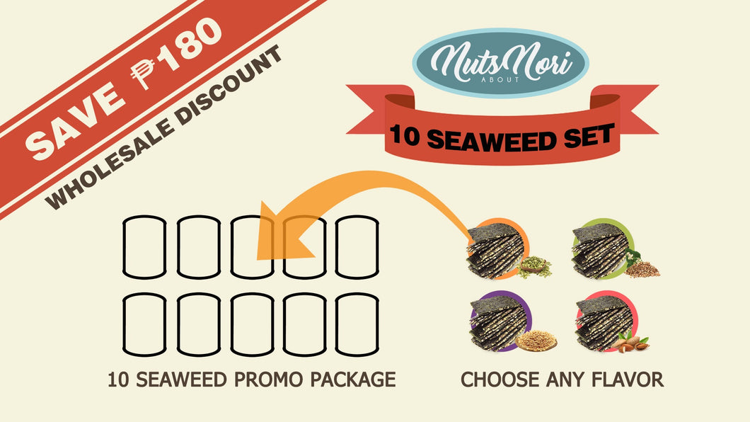 Roasted Seaweed Crunch (10 Seaweed Set, Save Php180)