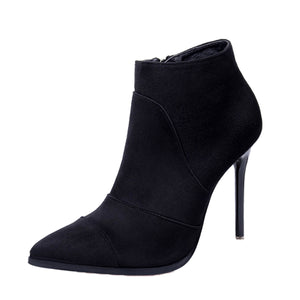 CARLA Ankle Boots Heels - Black
