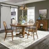 Liberty Furniture | Casual Dining 5 Piece Pedestal Table Sets in Winchester, Virginia 11985