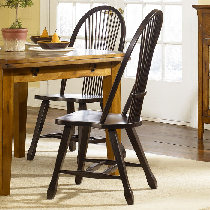 Liberty Furniture | Casual Dining Sheaf Back Side Chair - Black in Richmond VA 7798