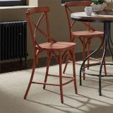 Liberty Furniture | Casual Dining X Back Counter Chairs - Orange in Richmond,VA 12396