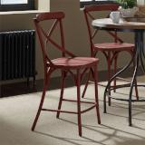 Liberty Furniture | Casual Dining X Back Counter Chairs - Red in Richmond Virginia 12385