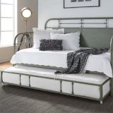 Liberty Furniture | Bedroom Twin Metal Day Bed With Trundle - Green in Lynchburg, VA 6780